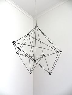A geometric sculpture with many facets.