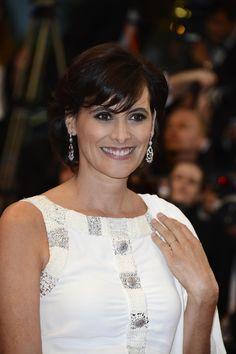 Ines de la Fressange on the red carpet at the Festival de Cannes 2013. (Getty Images)
