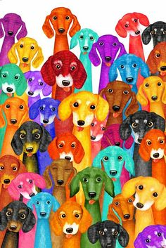 Dachshund Arte Dachshund, Dachshund Love, Animals And Pets, Cute Animals, Dashund, Wallpaper Fofos, Weenie Dogs, Doggies, Dog Paintings