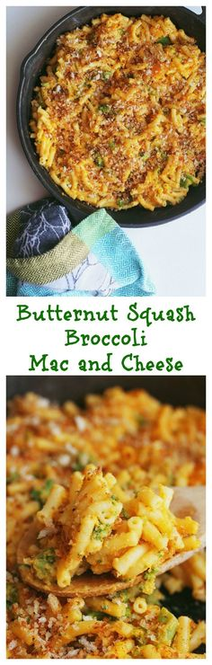 Enjoy mac n' cheese with some Butternut Squash Broccoli Mac and Cheese ...
