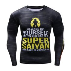 3D Super Saiyan/Captains Gym Compression Top