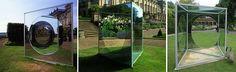 DAN GRAHAM_Triangular Pavilion With Circular Cut-Out Variation H, London