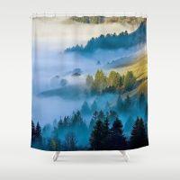 MISTY VALLEY Shower Curtain