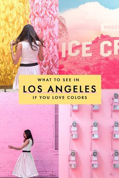 Love colors and all things artsy? LA is definitely the place for you and here's what to do in Los Angeles if you love chasing the perfect gram and all things colorful. Palm Springs, San Diego, Josie Loves, Las Vegas, United States Travel, California Travel, California Donuts, Venice Beach California, Travel Guides