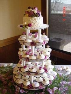 Wedding Cake and Cupcake Decorating Ideas cup-cake-towers foodstuff-i-love baby-winter