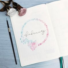 """2,026 Likes, 62 Comments - Roz • bullet journal•studygram (@rozmakesplans) on Instagram: """"I really didn't like how the cover page for february turned out, it looked so much better in my…"""""""