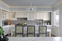 soffit ideas...Pacific Hillside Retreat - traditional - Kitchen - San Francisco - Kendall Wilkinson Design