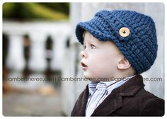 CROCHET PATTERN & Video Tutorial Woolly Newsboy por TheStitchHouse
