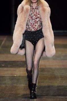 Saint Laurent|Swarovski crystal-embellished stretch-mesh tights|NET-A-PORTER.COM