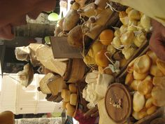 Cheese stand at Chiavari (Genoa, Italy) market!