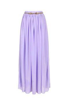 Elegant Chiffon Long Skirt Multi Color - OASAP.com