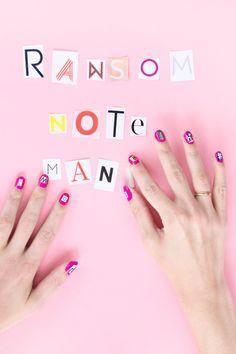 DIY Ransom Note Manicure - Studio DIY