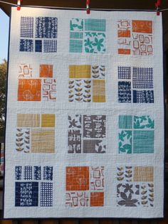 "This is Ginger's Geometrics!  Beautiful colors and modern design!  I love it!  See this quilt and other Rockin' G originals in our Etsy store ""dawnandgingersew""."