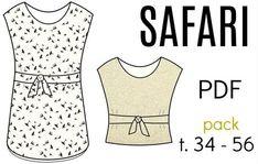 "PACK Patron Robe/Top ""Safari"" - PDF (34-56)"