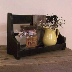 Primitive Jar Keep Cubby Shelf / Kitchen Bathroom Storage / Perfect for Smaller Pantry Jars / Lamp Black / Color Choice.