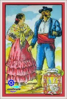 Trajes típicos de Andalucía Granada - Colección Amatller | aznalfarache