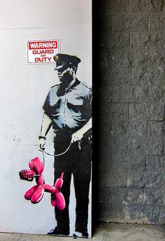 Guard on Duty, Banksy