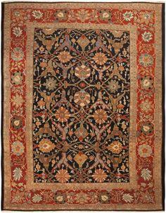 Antique Persian Sultanabad Carpet, Late 19th Century
