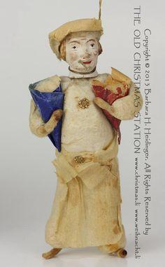 cotton christmas ornament | Antique Christmas ornament, spun cotton Baker with a composition head ...