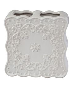 Love this Ruffles Lace Toothbrush Holder on #zulily! #zulilyfinds