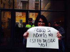 Aborto sí, aborto no; eso lo decido yo. Barcelona #TrenDeLaLibertad