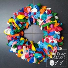 DIY Balloon wreath - atelier077