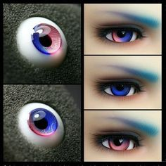 1 Pair Feature Colorful BJD Glass Eyes For Doll por KNIKlampwork
