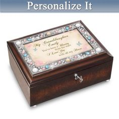 The Bradford Exchange Dear Granddaughter Music Box Plays Beautiful dreamer Handcrafted Heirloom Porcelain
