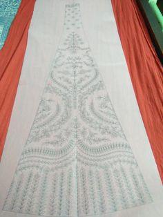 Hand Work Embroidery, Embroidery Stitches, Radha Kishan, Pattern Design, Print Design, Geometric Stencil, Choli Designs, Fabric Patterns, Applique
