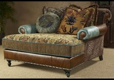 SETTEES, CHAISE, BENCHES Chaise, high style, leather, fabric