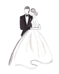 I DO: Hand Painted, Watercolor, Fashion Illustration, Wedding, Engagement, Shower, or Housewarming Gift, Bedroom Art. Frame Not Incl.