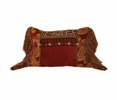 Brick And Leopard Chenille Rectangle Accent Pillow 13x17