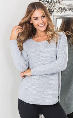 Showpo You Were Mine knit in grey - 12(L) Knitwear
