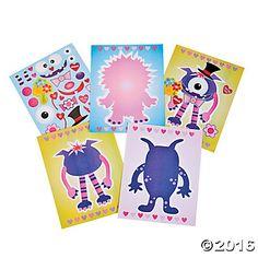 Valentine Monster Sticker Scenes