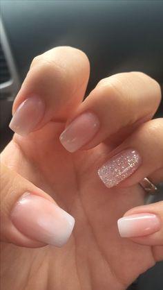 nails french tip glitter ~ nails french tip . nails french tip color . nails french tip with design . nails french tip glitter . nails french tip ombre . nails french tip acrylic . nails french tip coffin . nails french tip short Bling Nail Art, Bling Nails, Natural Gel Nails, Natural Makeup, Short Natural Nails, Natural Nail Art, Natural Eyes, Natural Looking Acrylic Nails, Short Fake Nails