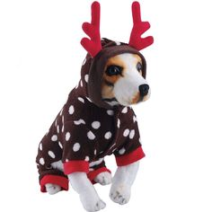 Qpet Dog Reindeer Elk Pet Cosplay Costumes For Christmas, Three Sizes Available -- Be sure to check out this awesome product. (This is an Amazon affiliate link)