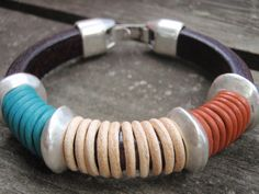 3 color bracelet by silviajordao on Etsy
