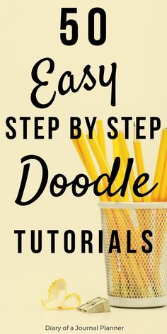 journal ideas layout weekly easy Ultimate List of Bullet Journal Doodles Step by Step doodle tutorial for your bujo Bullet Journal Doodles, Bullet Journal Ideas, Doodle Art Journals, Bullet Journal Inspiration, Bullet Journals, Doodle Sketch, Doodle Drawings, Easy Drawings, Doodle Doodle