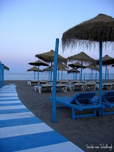 Torremolinos, Costa del Sol - sat right on this beach. Wow!