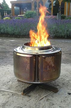 Upcycle a washing machine drum into a firepit!