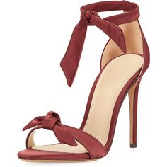 Alexandre Birman Clarita Satin Ankle-Tie Sandal (1.935 BRL) ❤ liked on Polyvore featuring shoes, sandals, shoes sandals, wine, wine shoes, satin sandals, ankle tie shoes, ankle strap sandals and ankle tie sandals