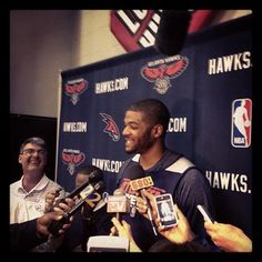 J-Smoove shares a laugh with the media at practice. Looking forward to having Josh at many more practices going forward!