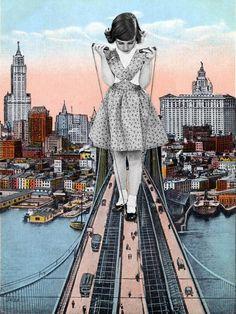 Los bonitos y surrealistas collages de Eugenia Loli | OLDSKULL