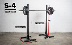 The new Rogue S-4 Squat Stand provides heavy-duty stability not typically found in an indy squat stand setup.