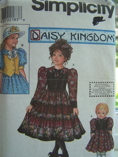 CLEARANCE Simplicity 8404 Sewing Pattern Girl's by WitsEndDesign, $4.00