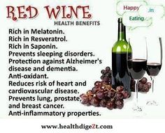 Wine is healthy.and in moderation.Wine is a pleasure.Wine is good for you! Drink up and ENJOY! Red Wine Health Benefits, Wine Facts, Champagne, Wine Quotes, Wellness, Wine Delivery, Italian Wine, Wine And Beer, Wine And Spirits