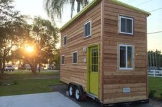 Welcome to the Little Lake Nest! A brand new rustic-meets-modern Tiny Home on beautiful Lake Mariana, located near Legoland, Disney World & Bok Tower Gardens! Come try Tiny Life, enjoy included kayaks & canoe, . Tiny Houses For Rent, Best Tiny House, Modern Tiny House, Tiny House Living, Tiny House Rentals, Tiny House Trailer, Cabana, Winter Haven, Tiny House Movement
