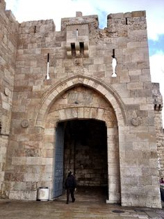 "OLD CITY OF JERUSALEM - Jaffa Gate - The most heavily used gate for tourists. It is called ""Jaffa Gate"" because the road west to the city of Jaffa starts near it. It leads to King David Street which divides the Christian Quarter from the Armenian Quarter."