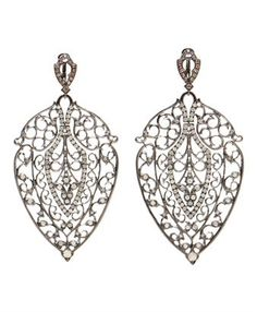 LOREE RODKIN - 'Leaf' White Gold, Black Rhodium and Diamond bellisimos