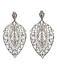 LOREE RODKIN - 'Leaf' White Gold, Black Rhodium and Diamond bellisimos